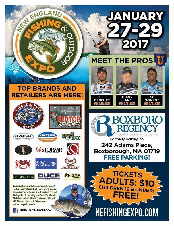 Pisc at the new england fishing expo boxborough ma jan for Massachusetts saltwater fishing license
